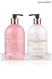 Baylis & Harding Pink Magnolia & Pear Blossom Set 2x500ml