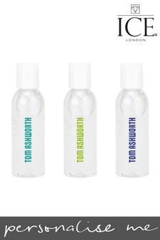 Personalised Set of 3 Hand Sanitisers By Ice London