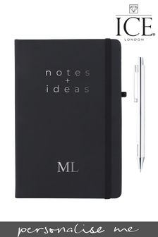 Personalised Foiled Notebook with Pen by Ice London