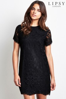 Lipsy Petite Lace Shift Dress