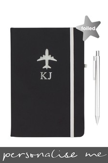 Personalised Airplane Notebook By Ice London