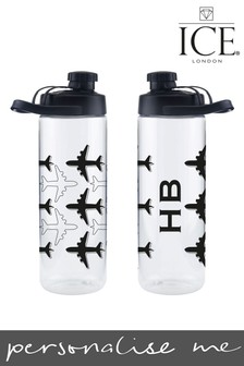 Personalised Airplane Sports Bottle by Ice London