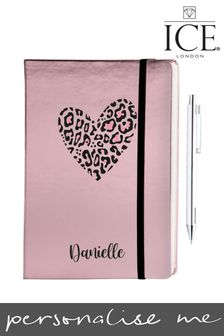 Personalised Notebook With Metallic Pen by Ice London