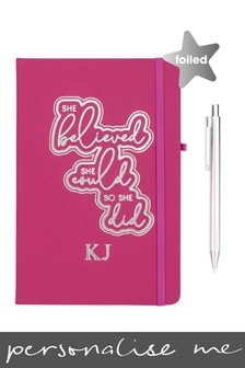 Personalised She Believed She Could Notebook By Ice London