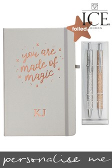 Personalised You Are Made Of Magic Notebook and Glitter Pens  by Ice London