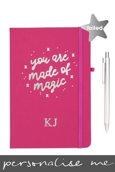 Personalised You Are Made Of Magic Notebook by Ice London