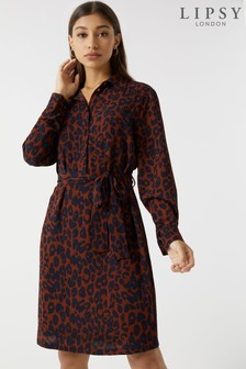Lipsy Petite Animal Shirt Dress
