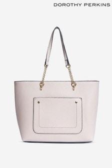 Dorothy Perkins Pocket Chain Shopper Tote Bag