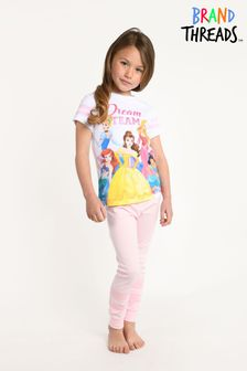 Brand Threads Disney Princesses Girls Pyjamas