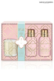 Baylis & Harding Pink Prosecco & Elderflower 3 Piece Candle Set