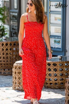 Pour Moi Mini Maxi Removable Straps Maxi Dress