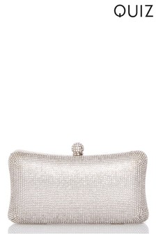 Quiz Diamanté Box Clutch Bag