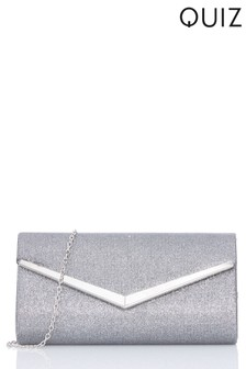 Quiz Shimmer Stripe Clutch Bag