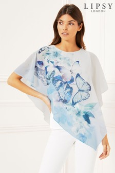 Lipsy Butterfly Overlay Top
