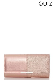 Quiz Shimmer Combo Clutch Bag
