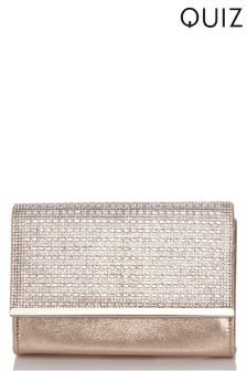 Quiz Shimmer Diamanté Plated Bag