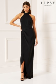 Lipsy Halter Column Maxi Dress