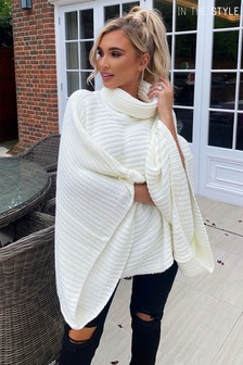 In The Style Curve Billie Faiers Cape Jumper