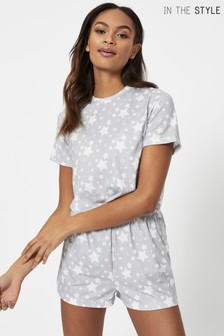 In The Style Exclusive Star Print Short Pyjama Set