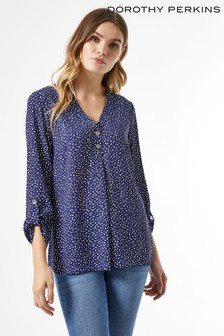 Dorothy Perkins Square 2 Button Roll Sleeve Shirt