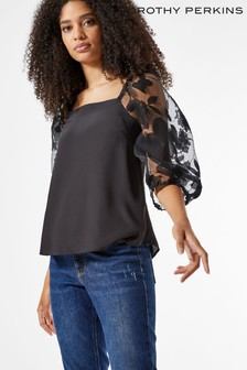 Dorothy Perkins Orgnza Square Neck Top