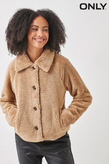 Only Teddy Button Front Jacket