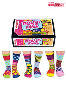 United Oddsocks Socken mit Punktedesigns, 6er-Pack