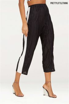 PrettyLittleThing Contrast Stripe Plisse Culottes