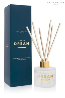 Katie Loxton Sentiment Reed Diffuser | Live to Dream | White Orchid and Soft Cotton |100ml