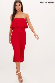 PrettyLittleThing Bardot Culotte Jumpsuit