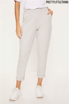 PrettyLittleThing Pinstripe Casual Trousers
