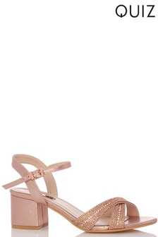 Quiz Cross Strap Low Heeled