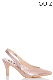Quiz Slingback Court Shoe