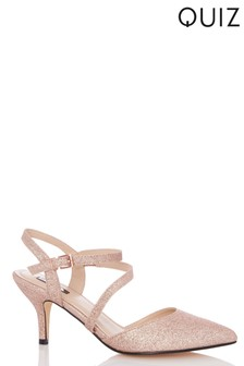 e531ede379a Quiz Cross Strap Low Heeled Courts