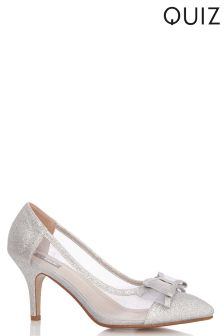 Quiz Glitter Pointed Bow Courts