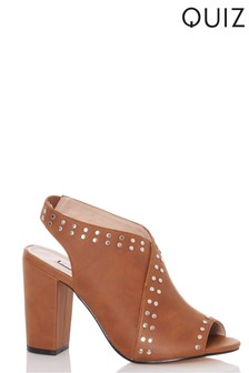 Quiz Studded Open Back Shoes