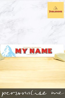 Personalised White Chocolate Toblerone 360g by Yoodoo