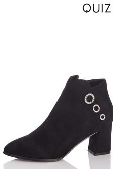 Quiz Flare Heel Boots