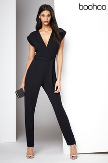 f16ab27bad0 Boohoo Wrap Front Jumpsuit