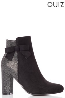 Quiz Side Bow Ankle Boot
