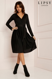 Lipsy Pleated Wrap Dress