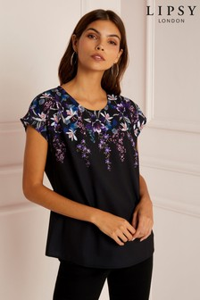Lipsy Floral Crew Neck Blouse