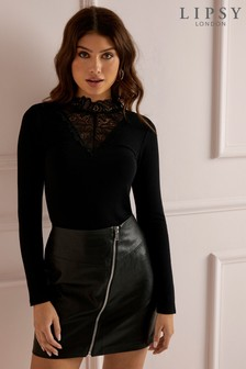 Lipsy Lace Victoriana High Neck Top