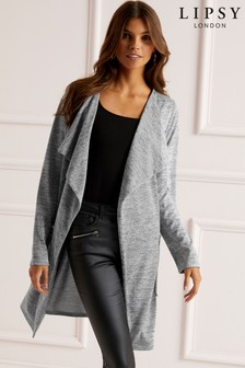 Lipsy Long Waterfall Cardigan