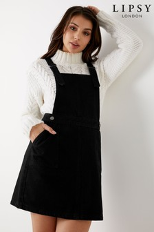 Lipsy Denim Pinafore Dress