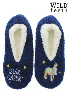 Wild Feet 1 pack Llama Knitted Slippers