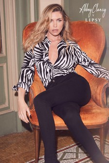 Abbey Clancy x Lipsy Zebra Print Shirt