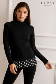 679a08cb86e Womens Mock Layer Jumpers | Casual & Work Mock Layer Jumpers | Next