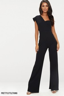 82abedb69f92f PrettyLittleThing One Shoulder Wide Leg Jumpsuit