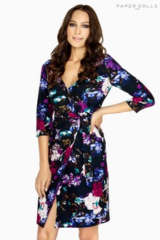 Paper Dolls Printed Wrap Dress